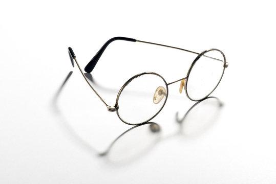 Pair of classic round vintage eyeglasses