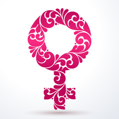Ornamental gender female symbol