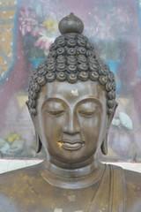 Focus on the Buddha's head.