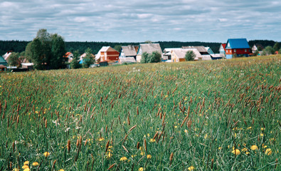 North Russian village.