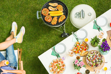 Photo sur Aluminium Grill, Barbecue Food and barbecue