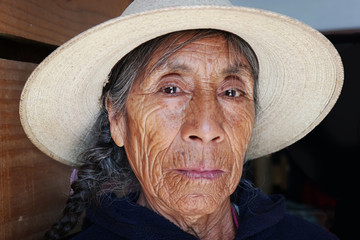 Elderly indigenous woman