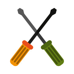 crossed screwdrivers icon image vector illustration design