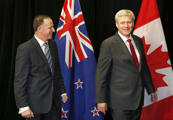 Harper arrives with Key for bi-lateral talks in Auckland