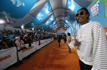 Rapper Wiz Khalifa arrives at Nickelodeon's Kids' Choice Awards in Inglewood
