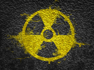 Radiation sign symbol in the form of an explosion