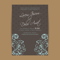 Wedding invitation and save the date cards