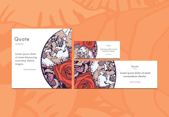 Three Colorful Floral Social Media Post Templates