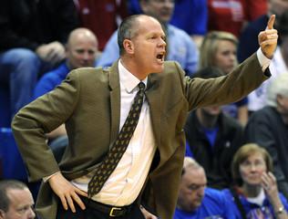 Colorado head coach Boyle expresses his displeasure during Kansas' win in Lawrence, Kansas