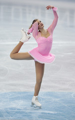 Helgesson of Sweden performs during the women's free skating programme at the European Figure Skating Championships at the Motorpoint Arena in Sheffield