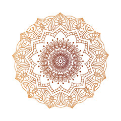 Round mandalas in vector. Abstract design element. Decorative retro ornament. Graphic template for your design