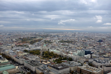 A general view of Vienna is pictured from the highest bungee jump crane in the world.