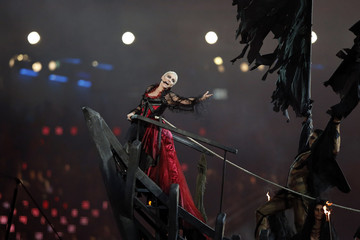 Singer Annie Lennox performs during the closing ceremony of the London 2012 Olympic Games at the Olympic Stadium