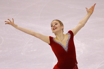 Gracie Gold competes in the women's short program competition at the U.S. Figure Skating Championships in Boston