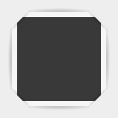Photo frame corners. Vector illustration on a white background