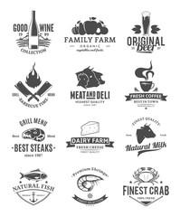 Vector food logo collection