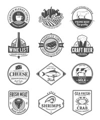 Vector food logo collection