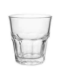 Empty old fashion whiskey glass