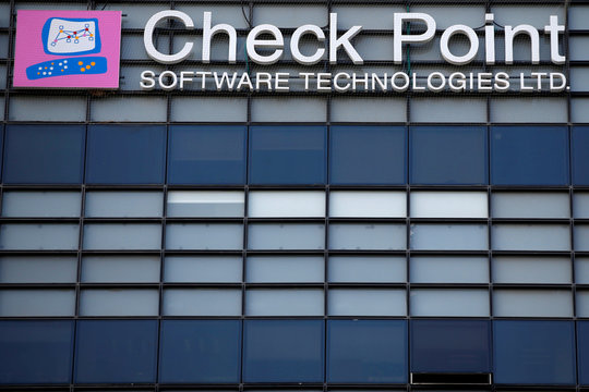 The logo of network security provider Check Point Software Technologies Ltd is seen at their headquarters in Tel Aviv, Israel