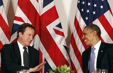 Obama  meets Cameron in New York