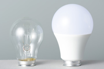 Led lamp and incandescent bulb
