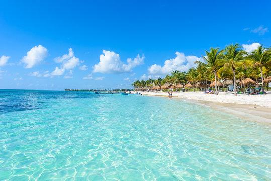 Riviera Maya - paradise beaches in Quintana Roo, Cancun - Caribbean coast of Mexico