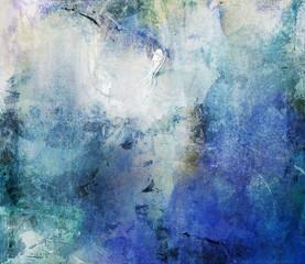 cyan blue grunge canvas