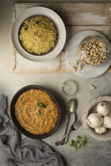 Indian Curry with Basmati Pilaf