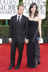 Scott Caan and guest arrive at the 68th annual Golden Globe Awards in Beverly Hills