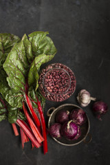Swiss Chard and red bean