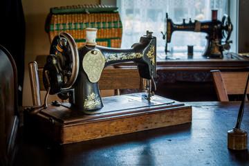 Old Antique vintage sewing machine.