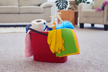 Cleaning set ready for using