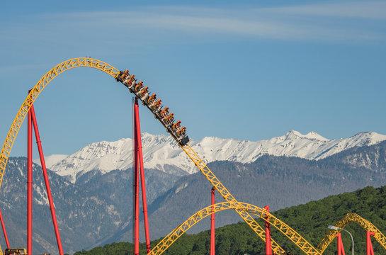 Sochi Park roller coaster ride