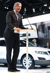 Victor Muller, chairman of Saab Automobile AB, speaks at New York International Auto Show