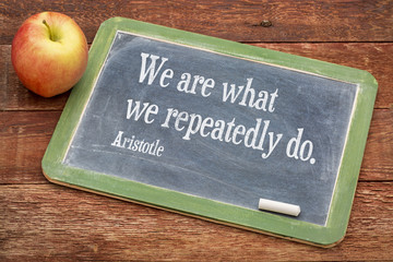 We are what ... Aristotle quote