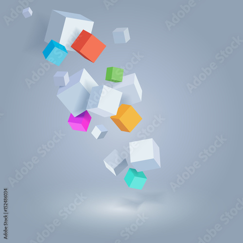 abstract vector background geometric illustration for website and