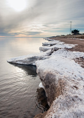 Winter shoreline on Lake Superior