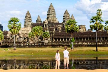Kids at Angkor Wat temple