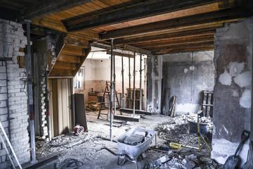 Obraz Sanierung * Wohnzimmer Kernsanierung4  - fototapety do salonu