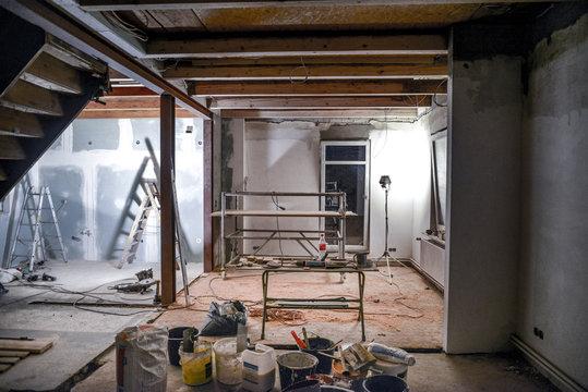 Sanierung * Wohnzimmer Kernsanierung7