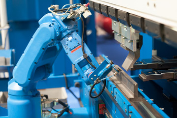Robotic arm. Assembly, machine tending, part transfer, pick and place robot.