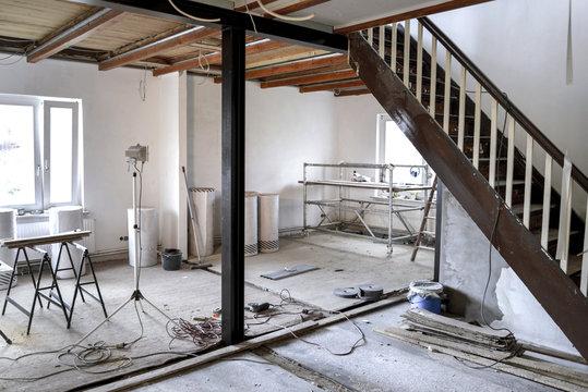Sanierung * Wohnzimmer Kernsanierung8