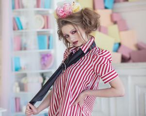 Fashionable stylish girl