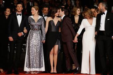 "Director Xavier Dolan and cast members arrive for the screening of the film ""Juste la fin du monde"" (It's Only the End of the World) in competition at the 69th Cannes Film Festival"