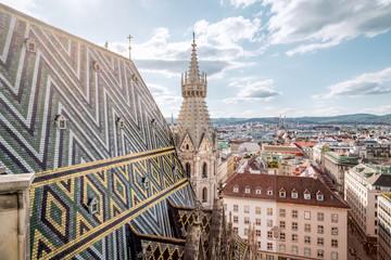 Vienna Skyline with St. Stephen's Cathedral, Vienna, Austria
