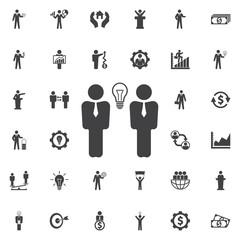 Businessman meeting vector icon.