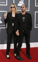Ringo Starr and his wife Barbara Bach arrive at the annual Grammy Awards in Los Angeles