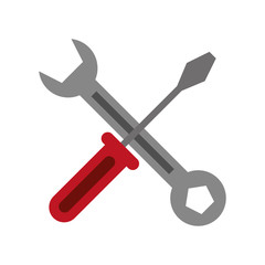 screwdriver and wrench icon image vector illustration design