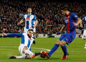Football Soccer - Barcelona v Espanyol - Spanish La Liga Santander