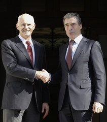 NATO Secretary General Rasmussen meets Greek PM Papandreou in Athens